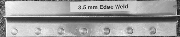 3.5mm Aluminum Edge Weld