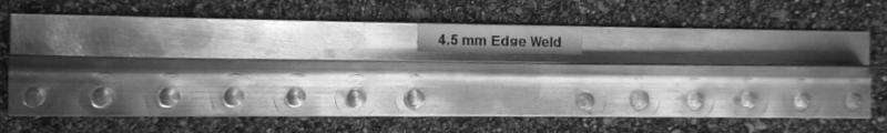 4.5mm aluminum edge weld