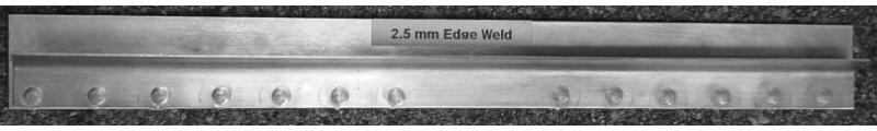 2.5mm aluminum edge weld