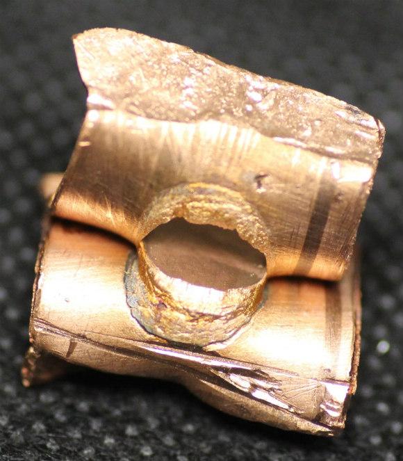 Copper spot weld peel test demonstration