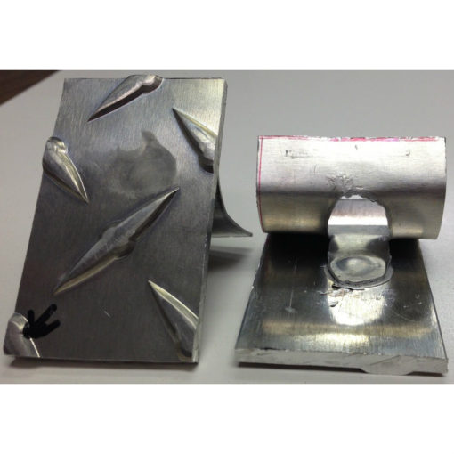 Aluminum Diamond plate weld and shear test